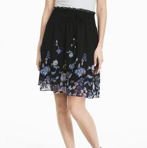 NWT White House Black Market Dark Floral Soft Mini